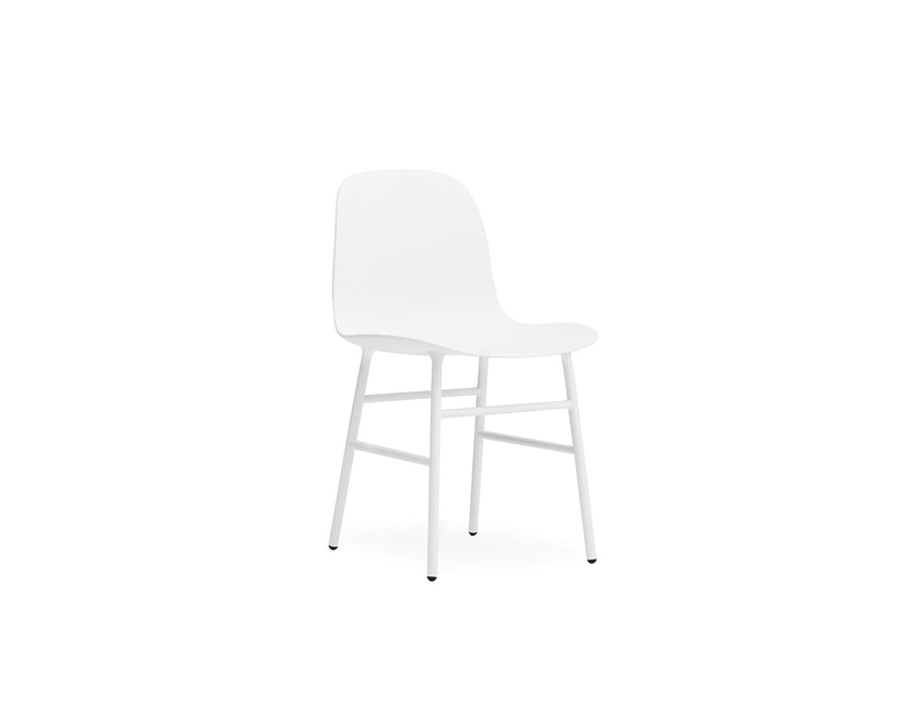 Normann Copenhagen - Form stoel met metalen frame - wit - 1