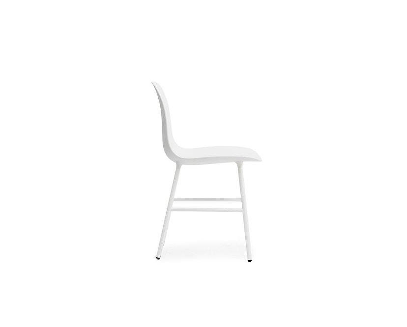 Normann Copenhagen - Form stoel met metalen frame - wit - 3