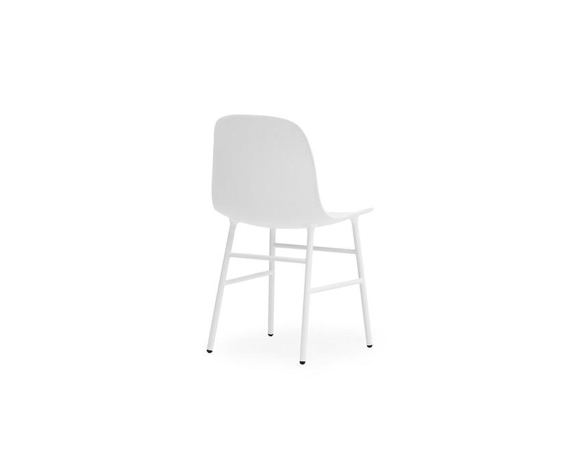 Normann Copenhagen - Form stoel met metalen frame - wit - 4