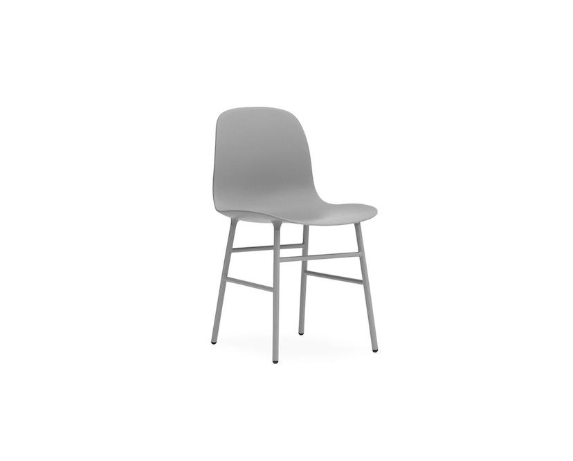 Normann Copenhagen - Form Stuhl mit Metallgestell - grau - 3