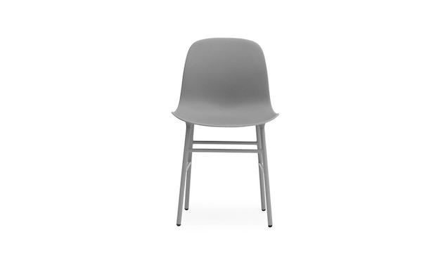 Normann Copenhagen - Form Stuhl mit Metallgestell - grau - 1