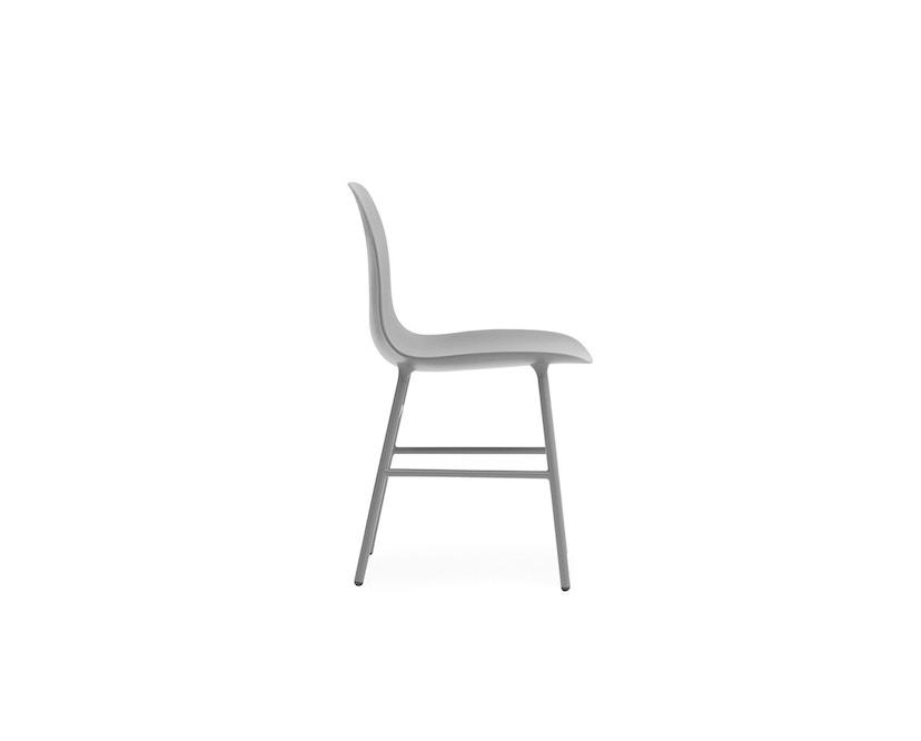 Normann Copenhagen - Form Stuhl mit Metallgestell - grau - 2
