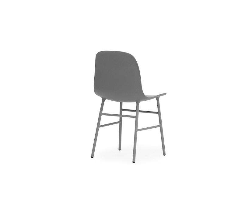 Normann Copenhagen - Form Stuhl mit Metallgestell - grau - 4