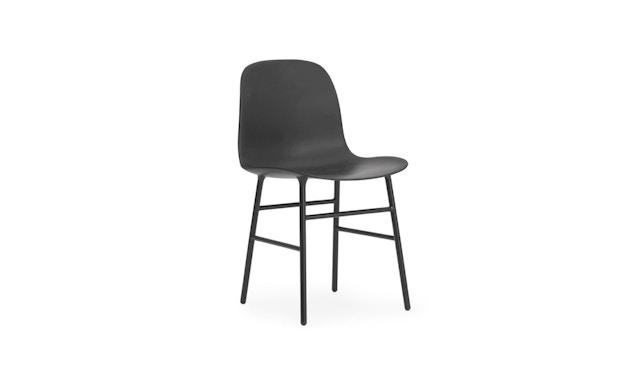 Normann Copenhagen - Form stoel met metalen frame - zwart - 1