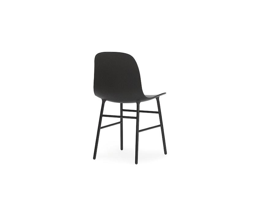 Normann Copenhagen - Form stoel met metalen frame - zwart - 4