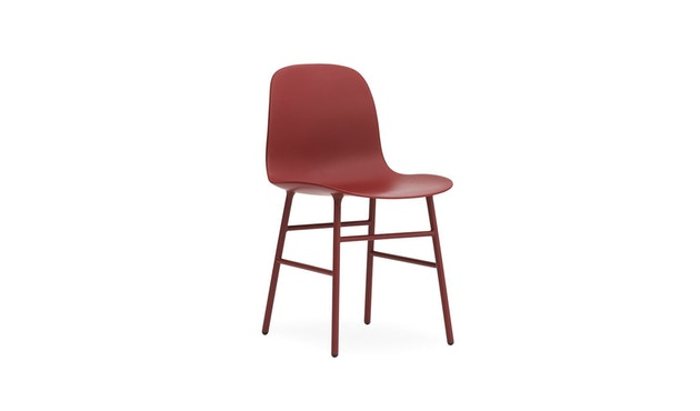 Normann Copenhagen - Form Stuhl mit Metallgestell - rot - 1