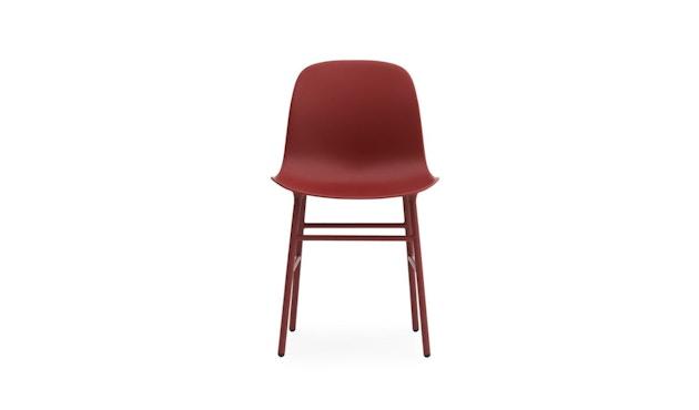 Normann Copenhagen - Form Stuhl mit Metallgestell - rot - 2