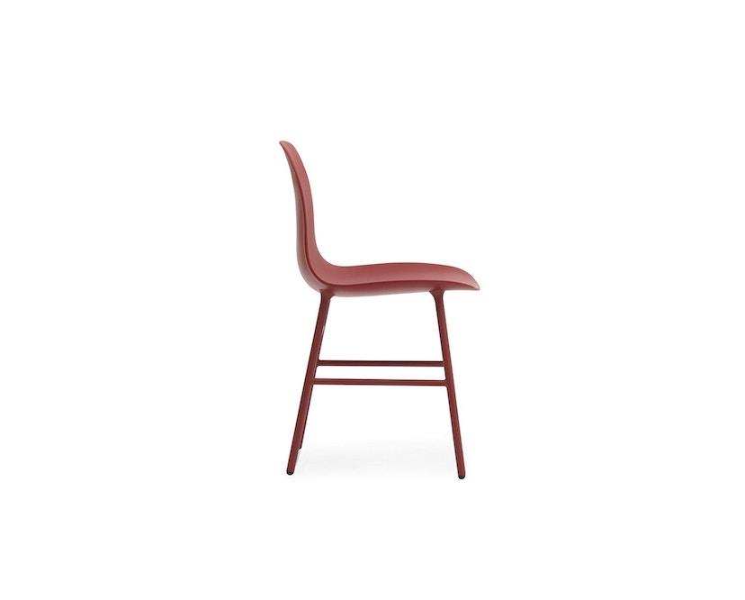 Normann Copenhagen - Form Stuhl mit Metallgestell - rot - 3
