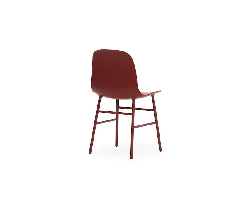 Normann Copenhagen - Form Stuhl mit Metallgestell - rot - 4