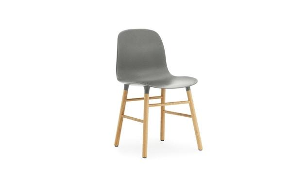 Normann Copenhagen - Form Stuhl mit Holzgestell - grau - Eiche - 1