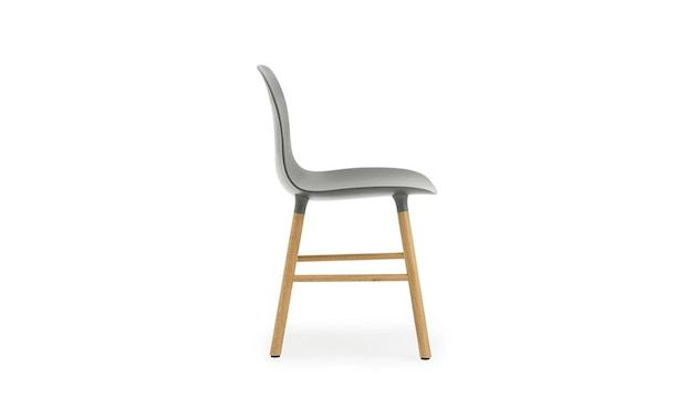 Normann Copenhagen - Form Stuhl mit Holzgestell - grau - Eiche - 3
