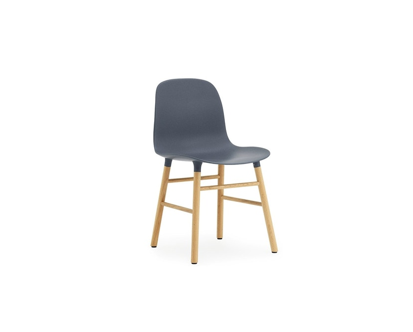 Normann Copenhagen - Form Stuhl mit Holzgestell - blau - Eiche - 1