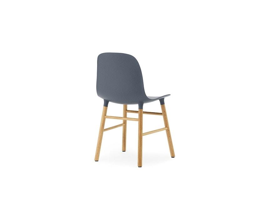 Normann Copenhagen - Form Stuhl mit Holzgestell - blau - Eiche - 2