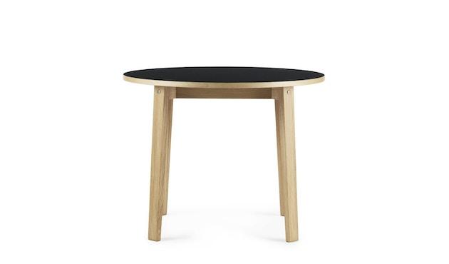 Normann Copenhagen - Slice Tisch Linoleum - Ø 95 - schwarz - 2