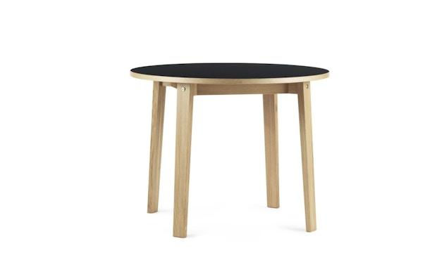 Normann Copenhagen - Slice Tisch Linoleum - Ø 95 - schwarz - 1