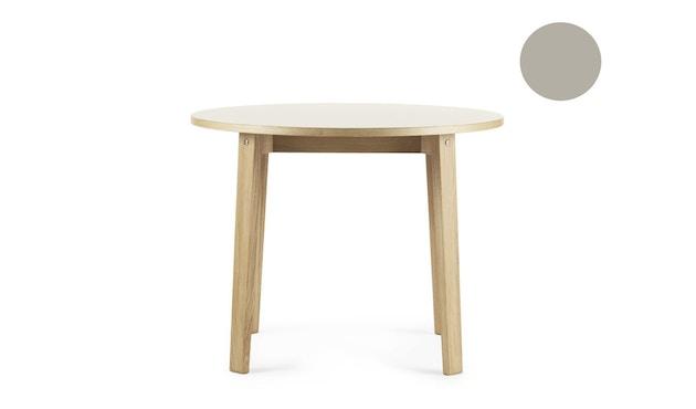 Normann Copenhagen - Slice Tisch Linoleum - Ø 95 - hellgrau - 2