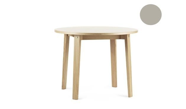 Normann Copenhagen - Slice Tisch Linoleum - Ø 95 - hellgrau - 1