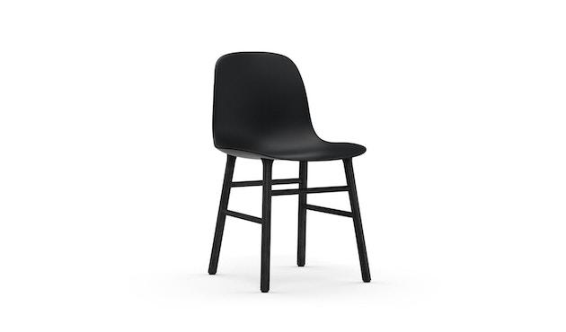 Normann Copenhagen - Chaise Form avec structure en bois - chêne noir - noir - 1
