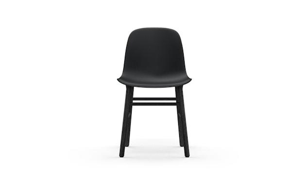 Normann Copenhagen - Chaise Form avec structure en bois - chêne noir - noir - 2
