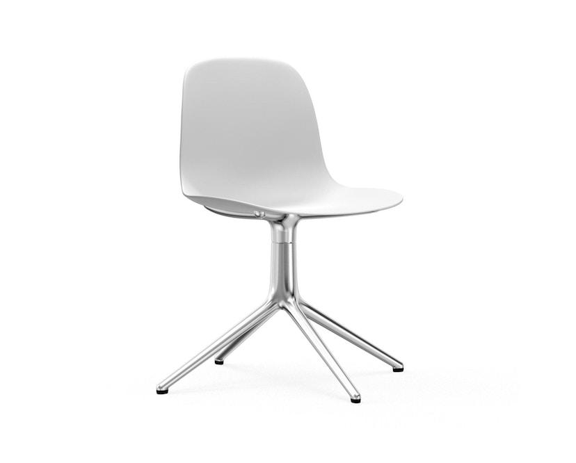 Normann Copenhagen - Form Drehstuhl - Gestell Aluminium - White - 1