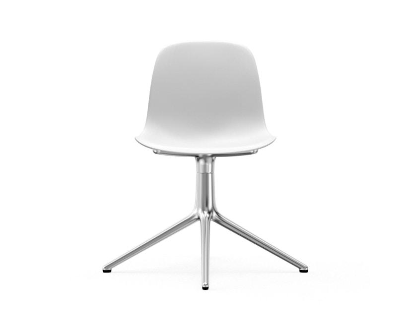 Normann Copenhagen - Form Drehstuhl - Gestell Aluminium - White - 2