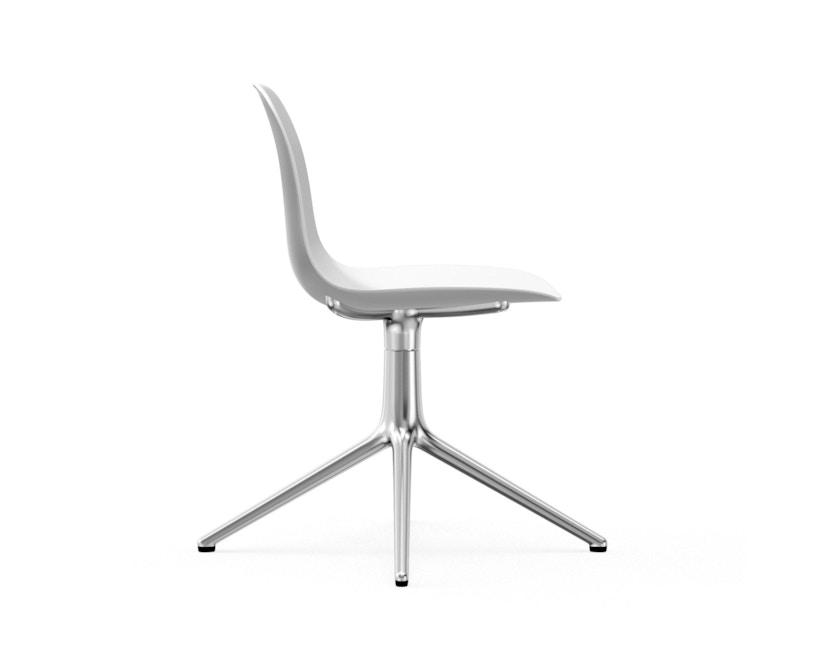 Normann Copenhagen - Form Drehstuhl - Gestell Aluminium - White - 3