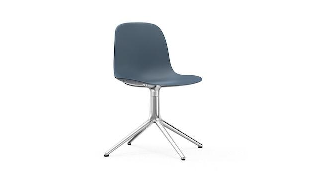 Normann Copenhagen - Form Drehstuhl - Gestell Aluminium - Blue - 1
