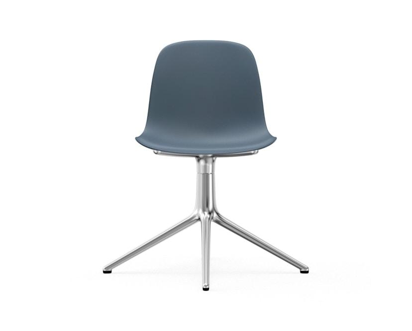Normann Copenhagen - Form Drehstuhl - Gestell Aluminium - Blue - 2