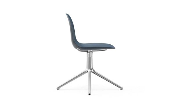 Normann Copenhagen - Form Drehstuhl - Gestell Aluminium - Blue - 3