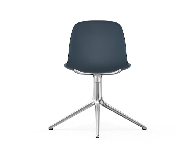 Normann Copenhagen - Form Drehstuhl - Gestell Aluminium - Blue - 4