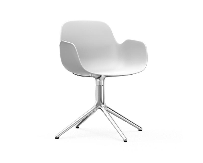Normann Copenhagen - Form Drehsessel - Gestell Aluminium - White - 1
