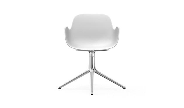 Normann Copenhagen - Form Drehsessel - Gestell Aluminium - White - 2