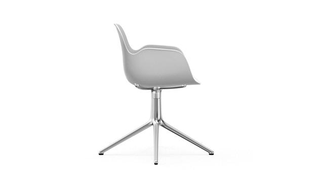 Normann Copenhagen - Form Drehsessel - Gestell Aluminium - White - 3
