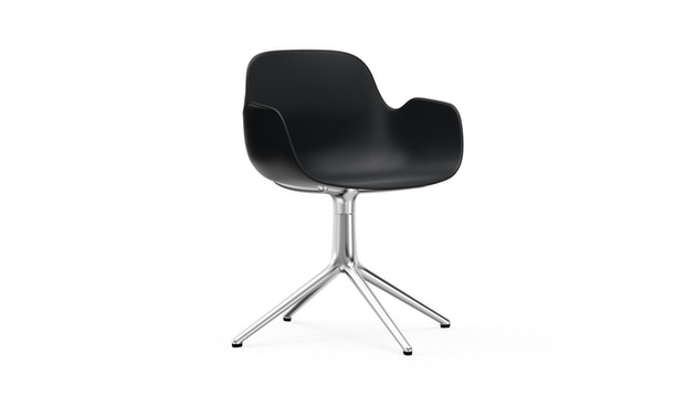 Normann Copenhagen - Form Drehsessel - Gestell Aluminium - Black - 1