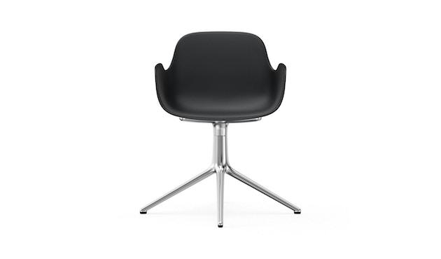 Normann Copenhagen - Form Drehsessel - Gestell Aluminium - Black - 2