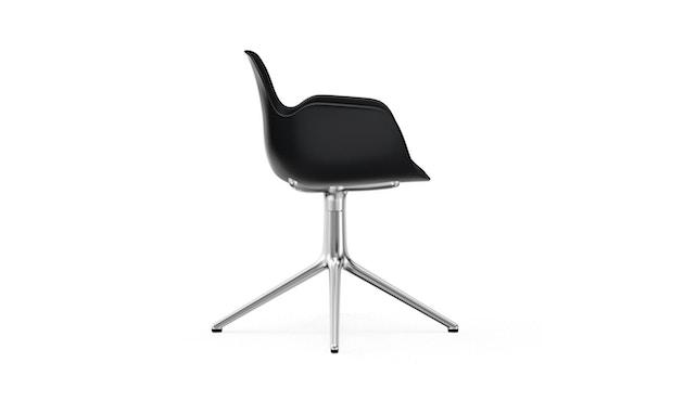 Normann Copenhagen - Form Drehsessel - Gestell Aluminium - Black - 3