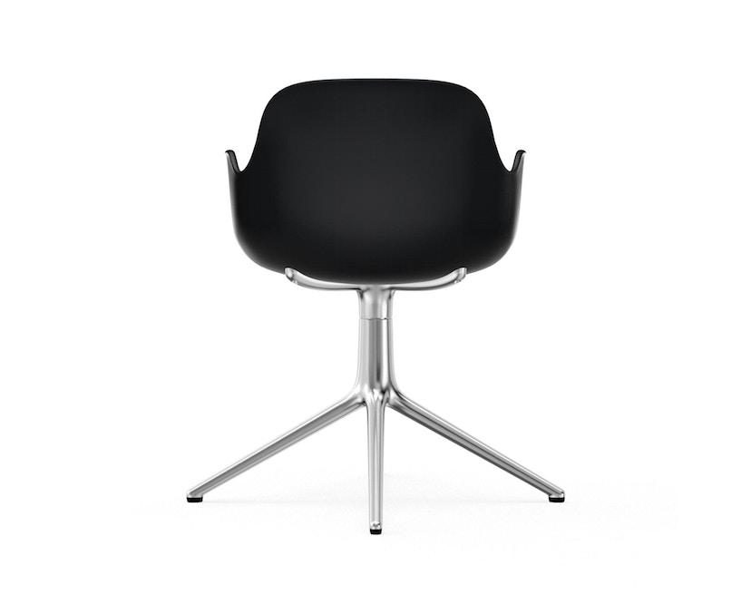 Normann Copenhagen - Form Drehsessel - Gestell Aluminium - Black - 4
