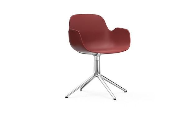 Normann Copenhagen - Form Drehsessel - Gestell Aluminium - Red - 1