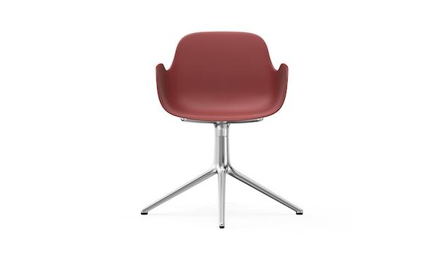 Normann Copenhagen - Form Drehsessel - Gestell Aluminium - Red - 2