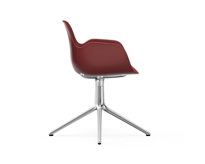 Normann Copenhagen - Form Drehsessel - Gestell Aluminium - Red - 3