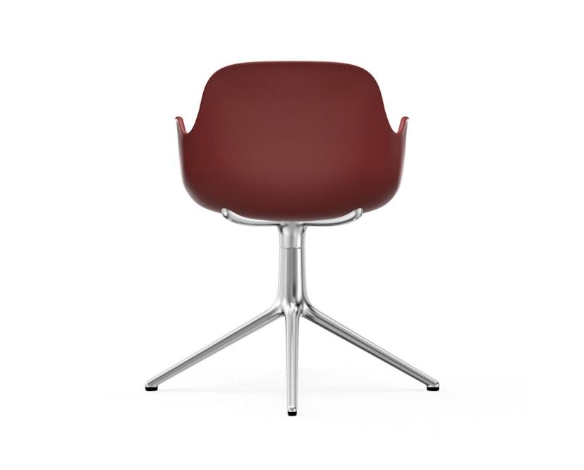 Normann Copenhagen - Form Drehsessel - Gestell Aluminium - Red - 4