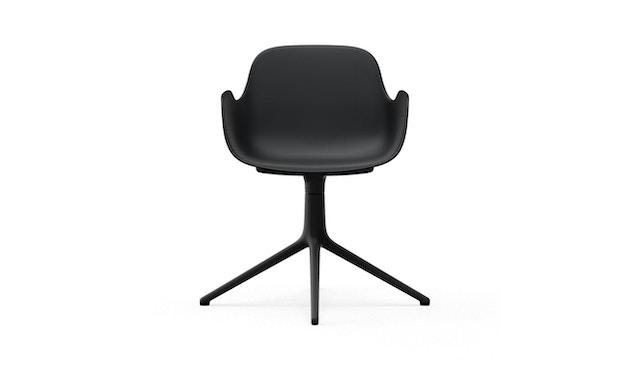Normann Copenhagen - Form Drehsessel - Gestell Aluminium schwarz - Black - 2