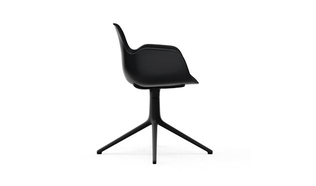 Normann Copenhagen - Form Drehsessel - Gestell Aluminium schwarz - Black - 3