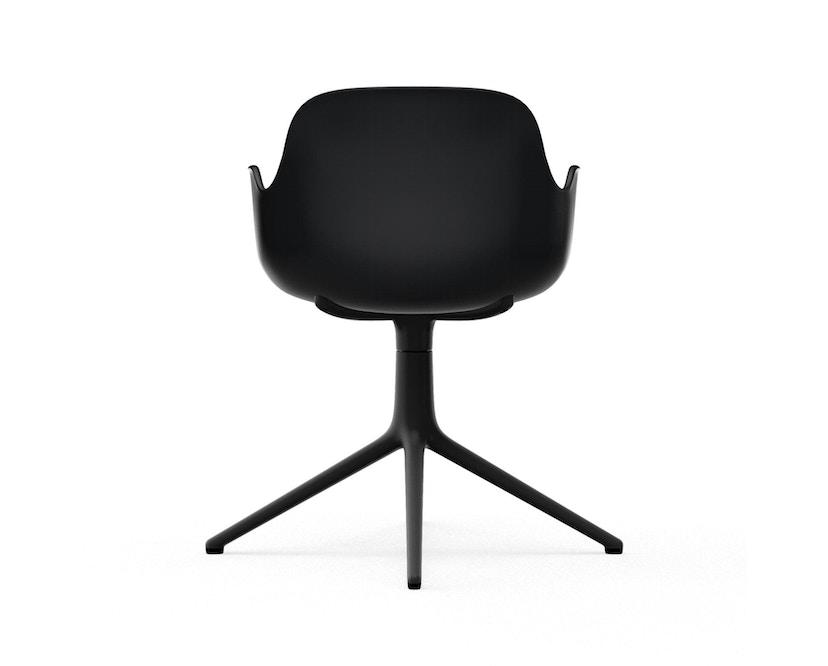 Normann Copenhagen - Form Drehsessel - Gestell Aluminium schwarz - Black - 4