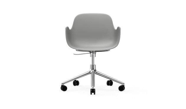Normann Copenhagen - Form Drehsessel mit Rollen - grijs - aluminium - 2
