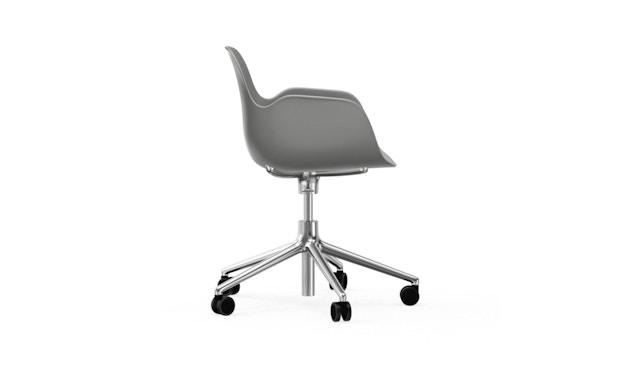 Normann Copenhagen - Form Drehsessel mit Rollen - grijs - aluminium - 3
