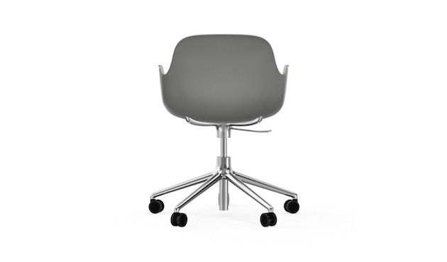 Normann Copenhagen - Form Drehsessel mit Rollen - grijs - aluminium - 4