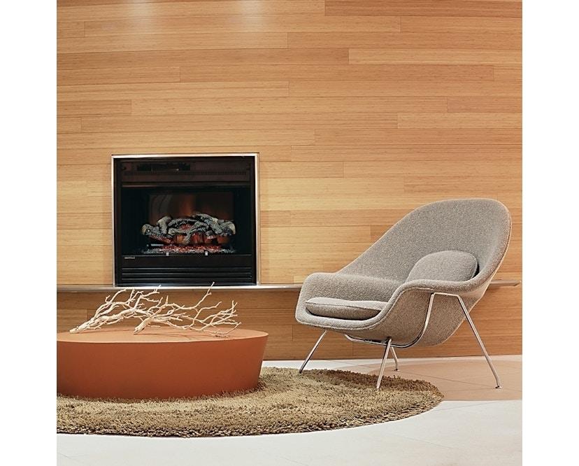 Knoll International - Saarinen Womb Sessel - Relax - Volo Black - Polyesterfaser-Füllung - Gestell Chrom glänzend - 1