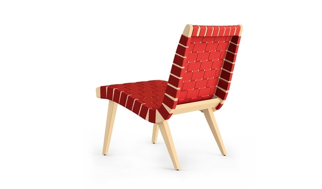 Knoll International - Risom Lounge Armlehnstuhl - rot - 2