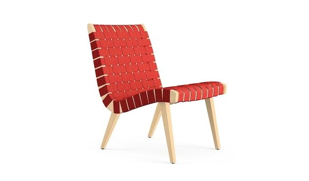 Knoll International - Risom Lounge Armlehnstuhl - rot - 1